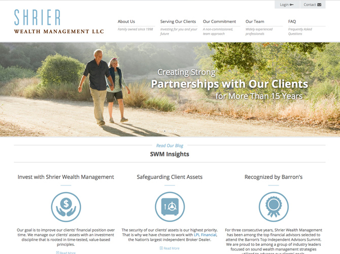 Shrier Wealth Management Web Design